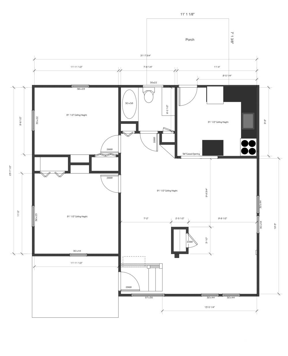 493 Riverside plans ORIGINAL kitchen